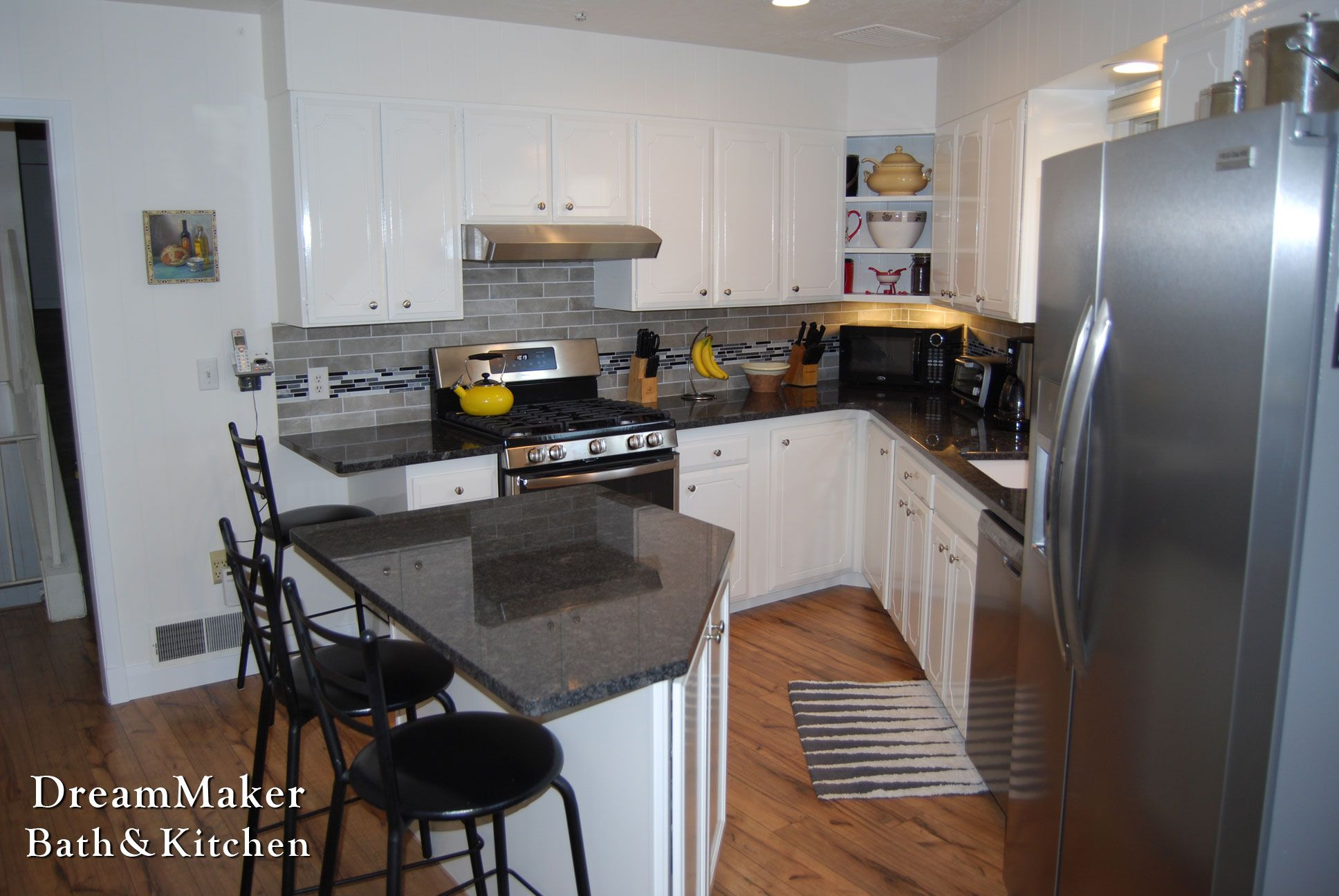 Kitchen Remodel  Removed Peninsula, Added New Island With Maple