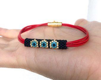 Miyuki Beaded Ethnic Designed evil eye Bracelet, Miyuki evil eye  ethnic design beaded Bracelet for women by ZDA