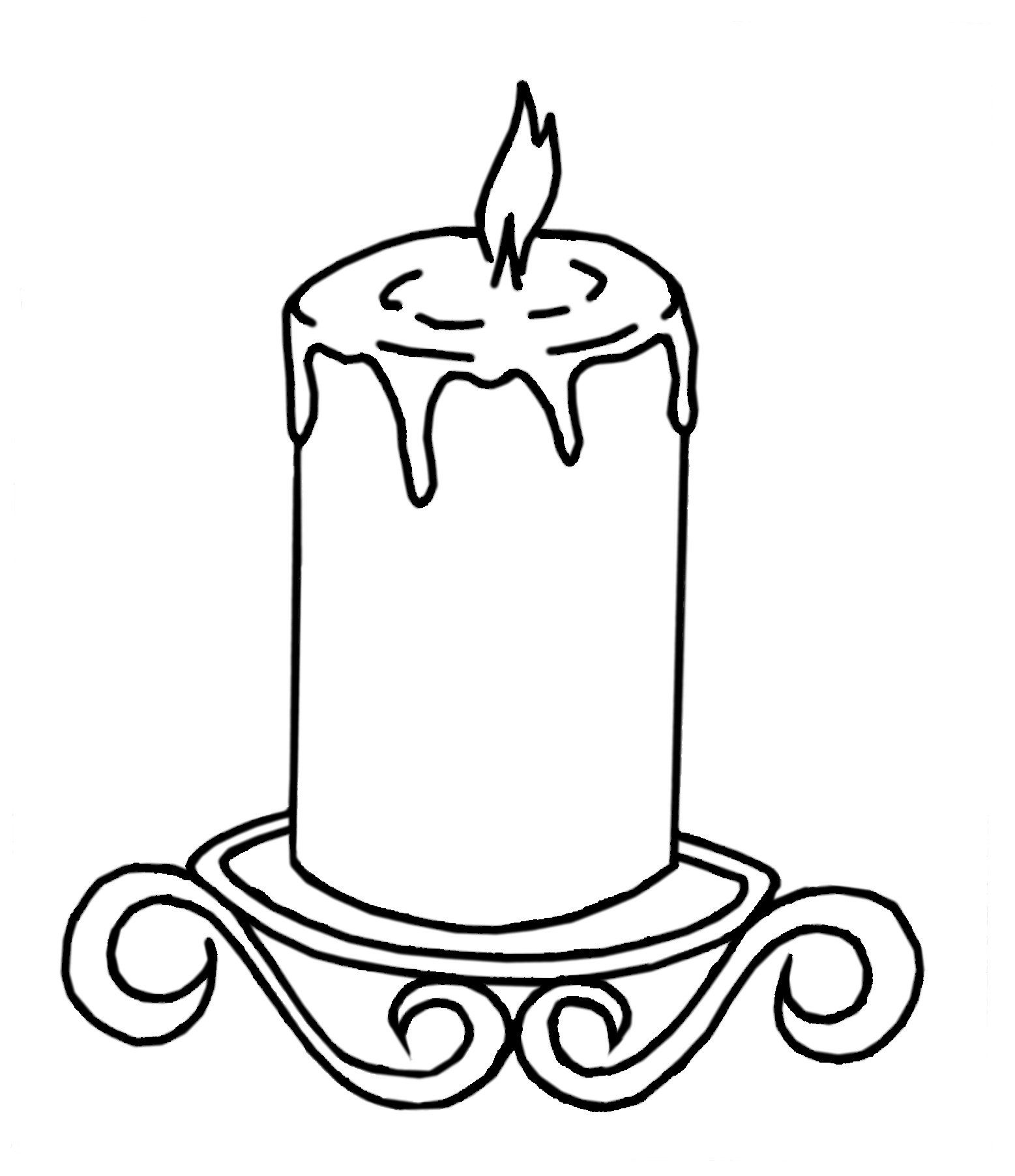 Coloring Page Burning Candle Burning Candle Coloring
