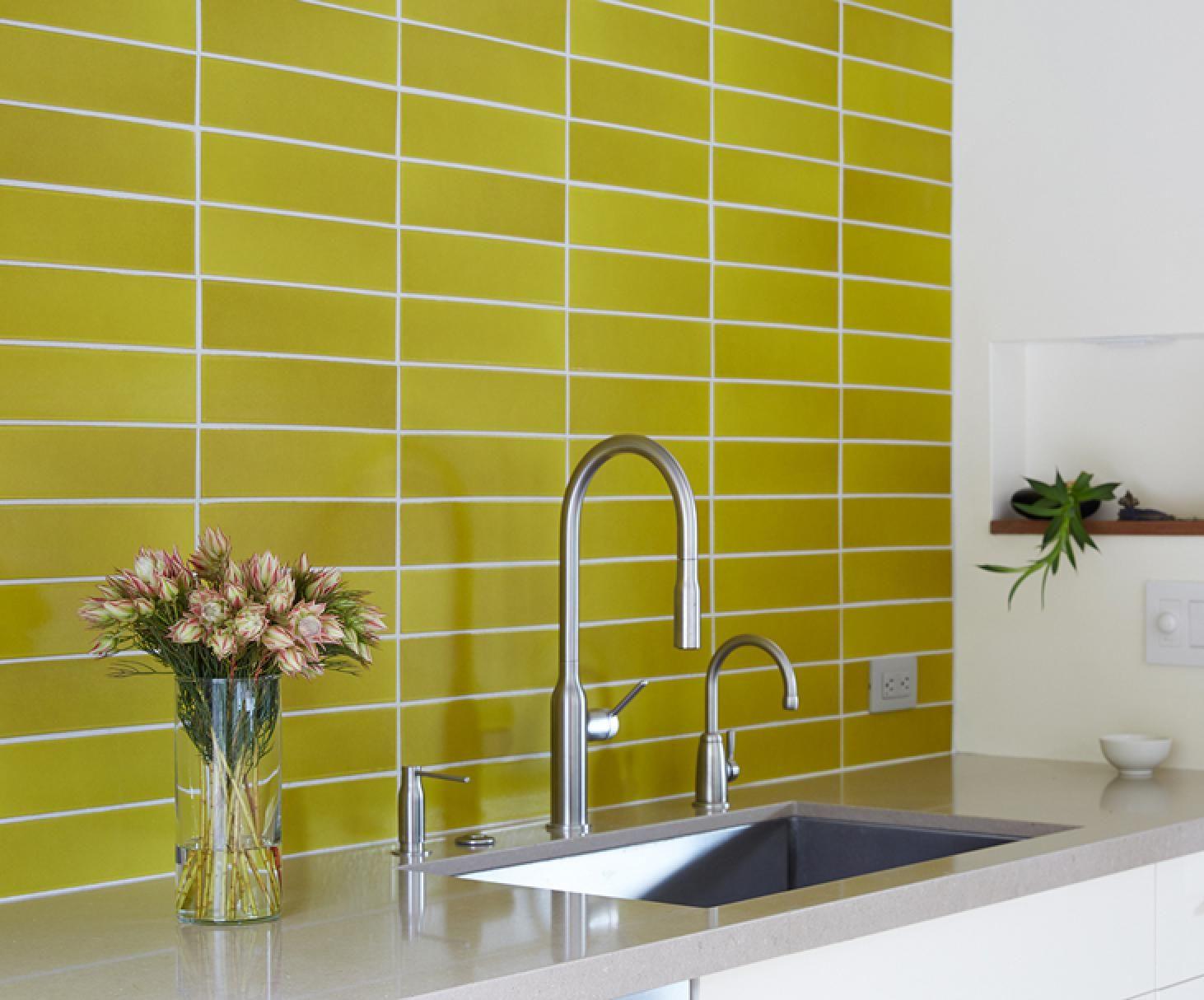 Heath Ceramics 3x12 Classic Field Tile In G44 Bright Yellow Photo