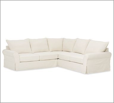 Pb Comfort Slipcovered 3 Piece L Shaped Sectional Quality Living Room Furniture Sectional Slipcover Sectional