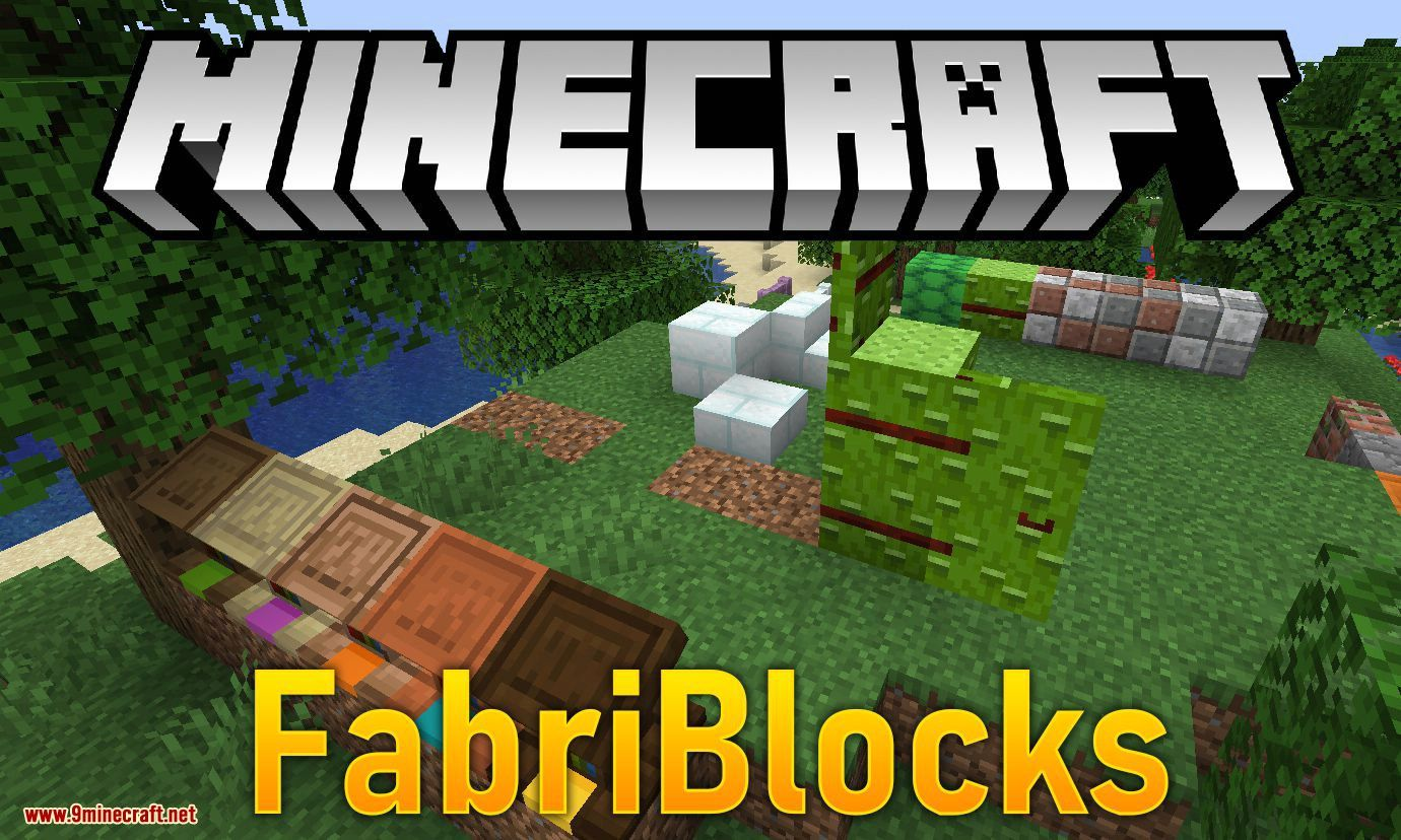 Fabriblocks Mod 1 14 4 Adds Building And Decoration Blocks For Fabric Scute Block Bamboo Block Bamboo Trapdoor Bamboo Glass Door Types Of Wood Minecraft 1