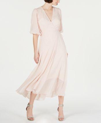 a92116ec4cd Calvin Klein Shadow-Stripe Maxi Dress - Pink 10