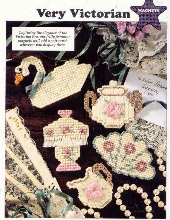 Victorian Fan Coasters  ~  plastic canvas pattern