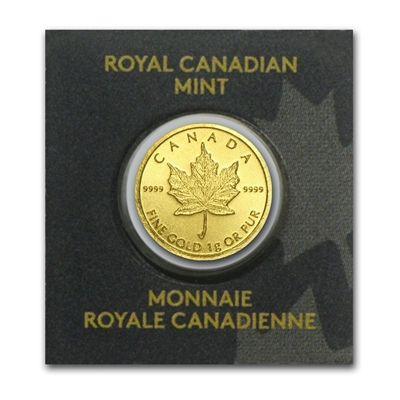 One Gram Royal Canadian Mint Gold Maple Leafs Gold Bullion Coins Gold Krugerrand Gold Bullion