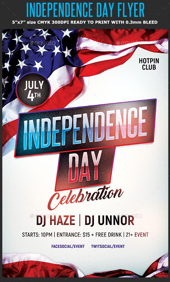Independence Day Flyer Template is very modern psd (photoshop) flyer