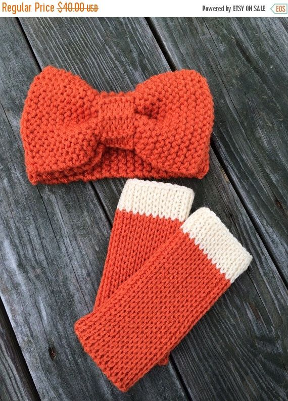 Holiday Sale Knit Big Bow Headband with by WendysWonders127