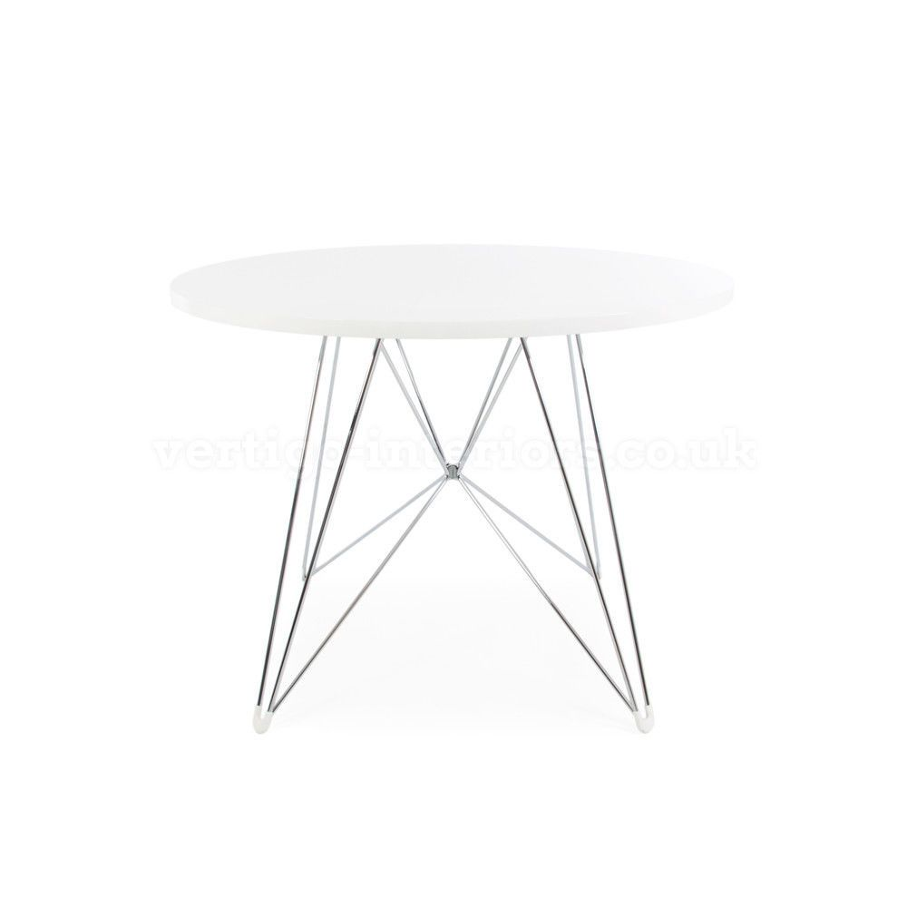Mid Century Modern Eames Style White Round Dining Table