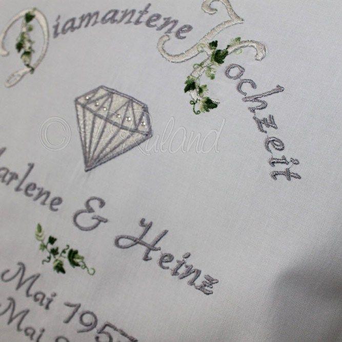 Gluckwunschkarte Hochzeit Mit Initialen Geldtutchen Diamantene Hochzeit Diamanten Hochzeit