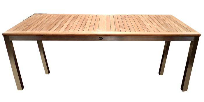 180x90 - Stainless Steel / Teak Fixed tables - Ascot Teak | Outdoor ...