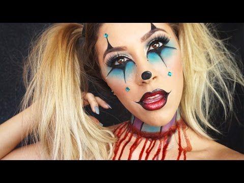 CREEPY CLOWN MAKEUP TUTORIAL! Vicky Alvarez - YouTube CostumeS - maquillaje de halloween para nios