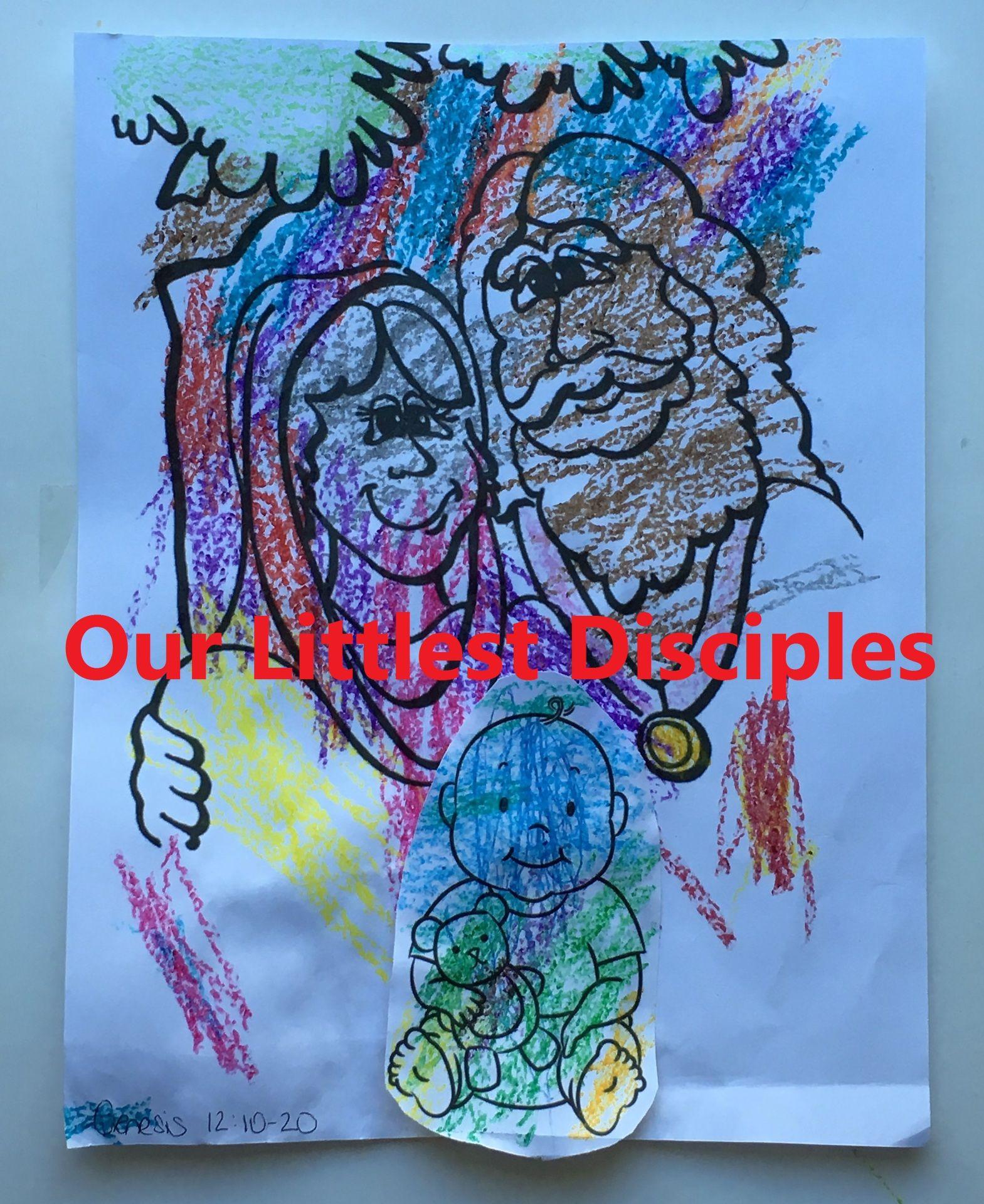 Abraham Abram Sarah Sarai Baby Isaac Coloring Page Craft Activity Genesis 15 7 21 7 Five