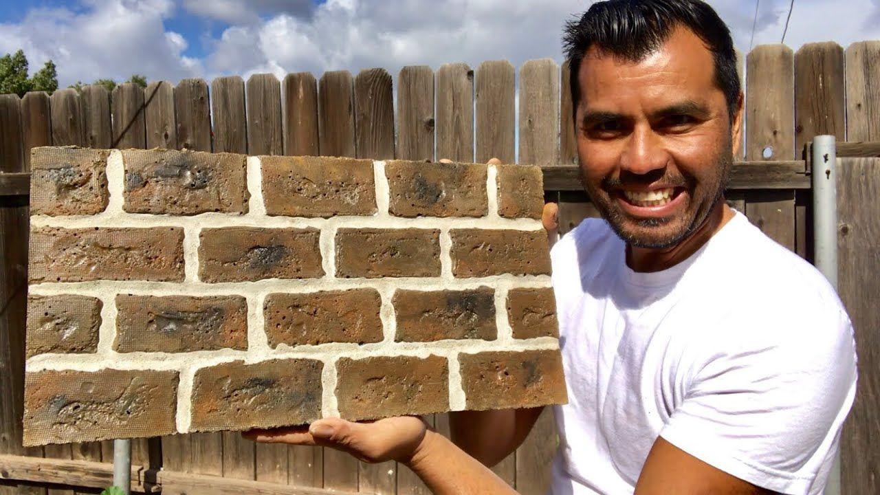 Como Hacer Panel De Ladrillo Falso Making Faux Brick Wall Panels Ladrillo Falso Ladrillo Piedra Artificial