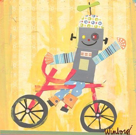 Biking Robot   Art Education: Grade 4 - Term 1: Family and Friends ...