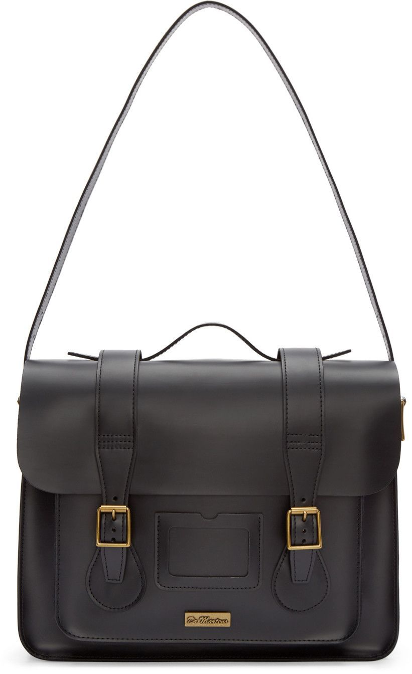 fc818cd063d9 MARTENS Black Leather Messenger Bag. #dr.martens #bags #shoulder bags #hand  bags #leather #satchel #