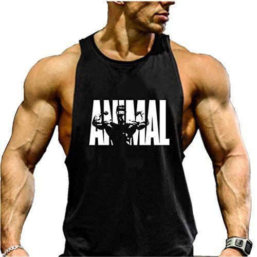 D/ébardeur Musculation Homme /à Capuche Imprim/é Sport Fitness Gym Bodybuilding T-Shirt Gilet sans Manche