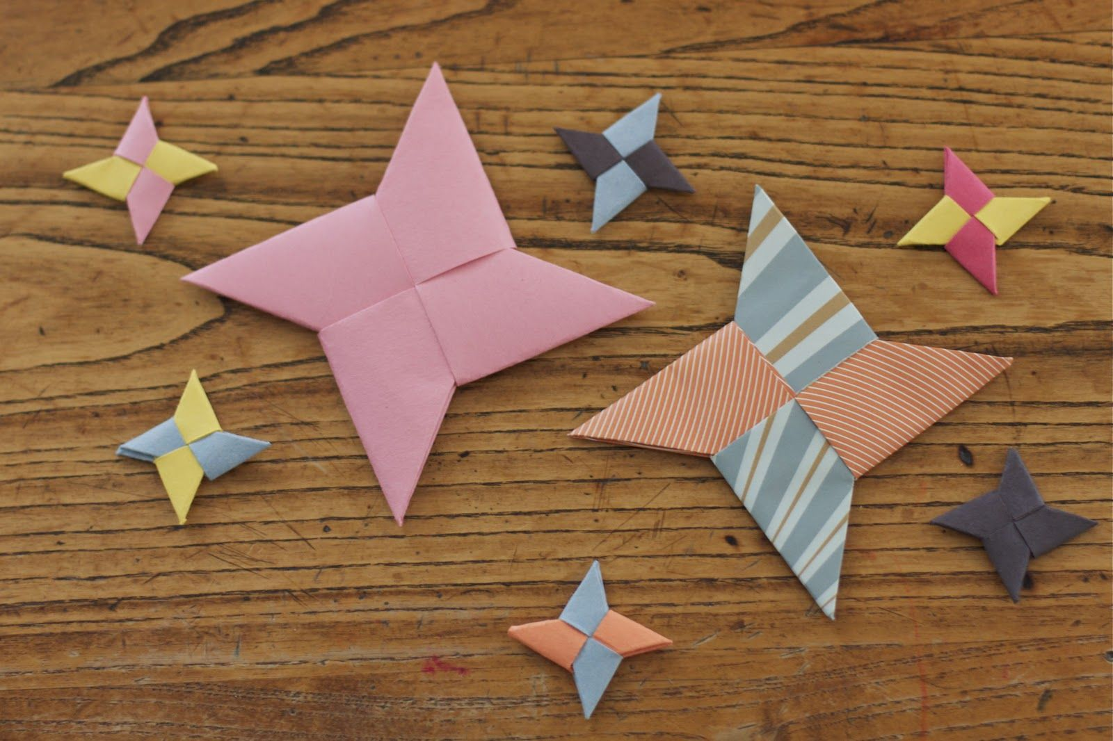 Paper Throwing Stars Origami Instructions Things My Mom Would