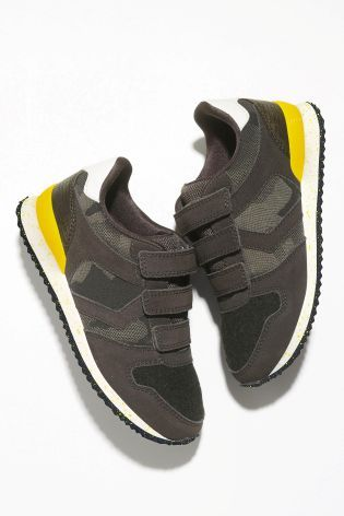 7c92a61639fa3 Buy Khaki Camo Triple Strap Trainers (Older Boys) from the Next UK online  shop