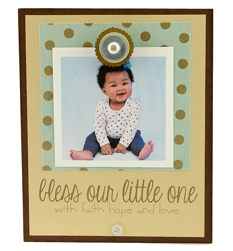 Bless Our Little One Insta Magnet Frame | Personalized Frame, Instagram Frame, Handmade, Gift for Mom, Dad, Whimsical, Contemporary, Desk Frame | Catching Fireflies