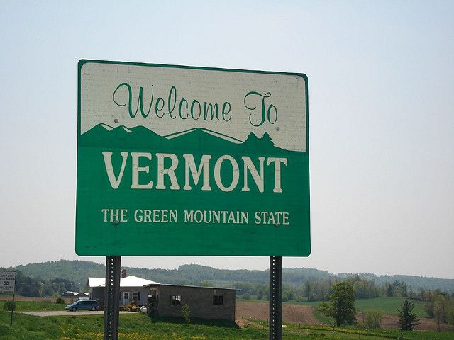 00718 Welcome To Vermont Sign Vermont States In America