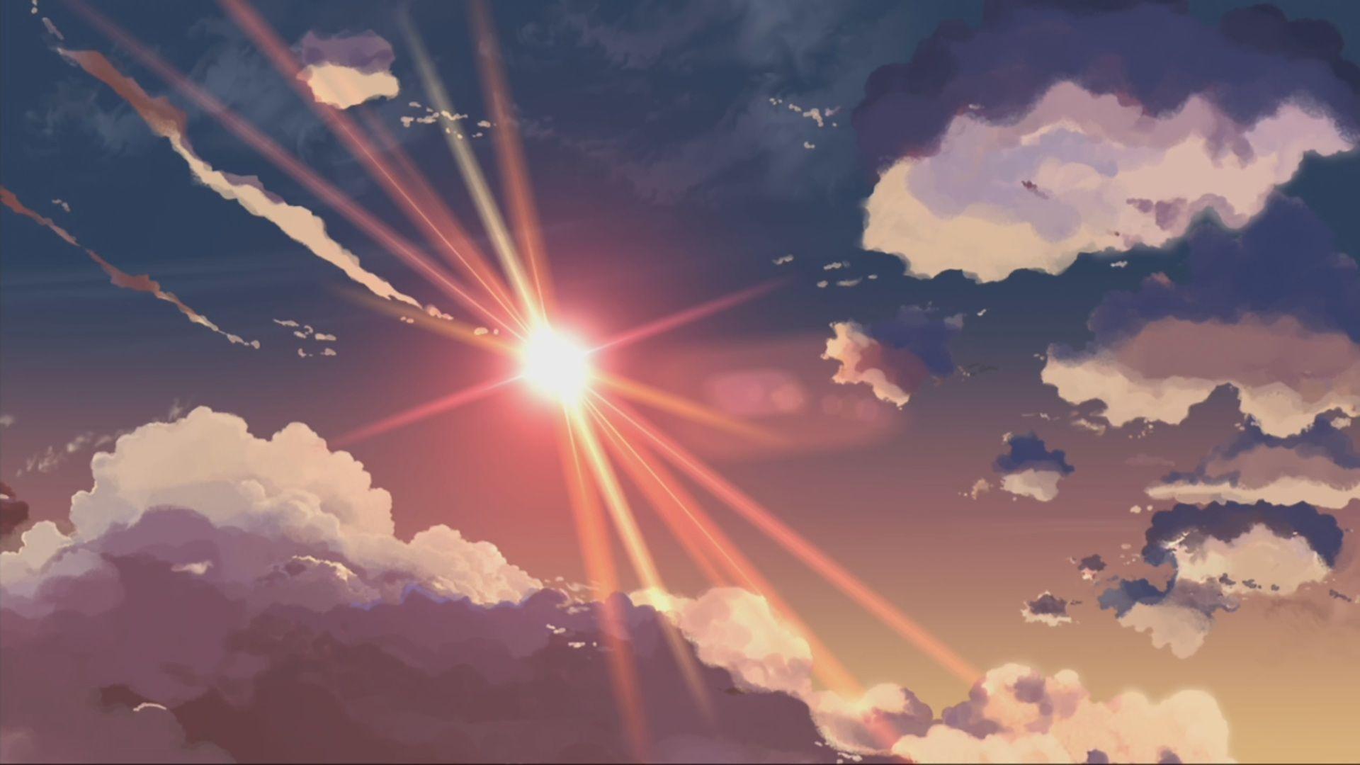Anime Scenery HD Wallpapers and Backgrounds Облака, Обои