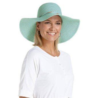 Coolibar UPF 50+ Women s Corsica Sun Hat - Sun Protective (One Size - Aqua 071ea7e437d0