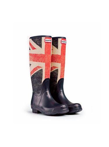 Botas de agua Hunter con la bandera británica. (125 euros)