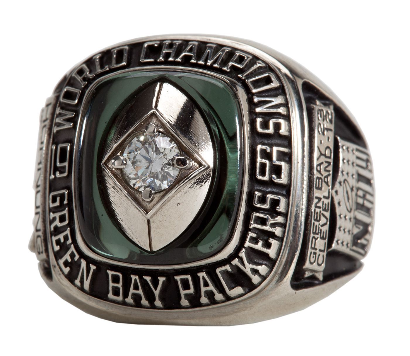 Paul Hornung S 1965 Green Bay Packers Nfl Championship Ring Reissue Hornung Loa With Images Nfl Packers Nfl Green Bay Go Packers