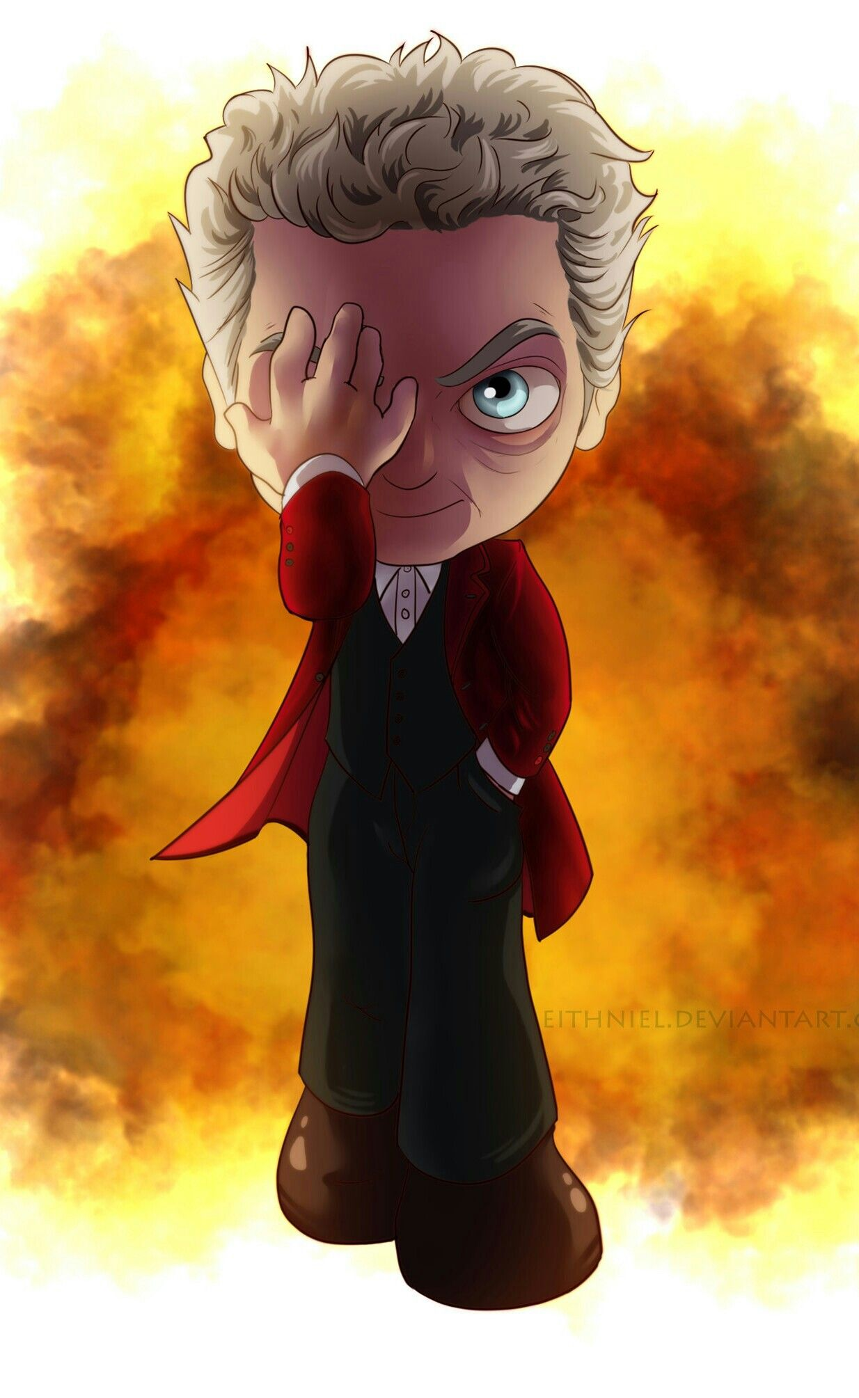DOCTOR 12 PETER CAPALDI Doctor who art, Doctor who