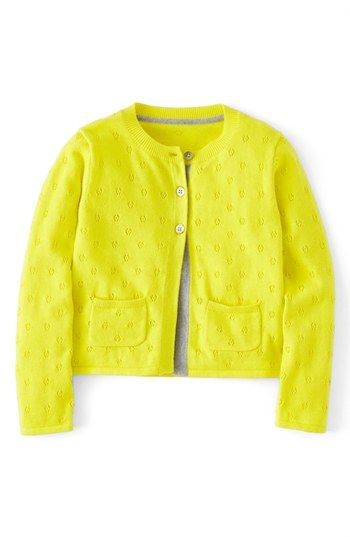 Mini Boden 'Pretty Pointelle' Cardigan (Toddler Girls, Little Girls & Big Girls) available at #Nordstrom