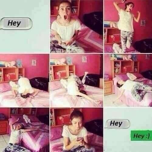 When you get a text