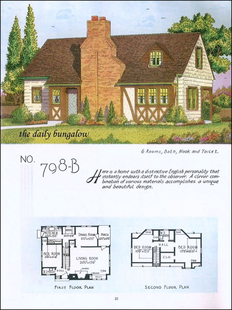 1935 National Plan Service Vintage House Plans Different House Styles House Floor Plans