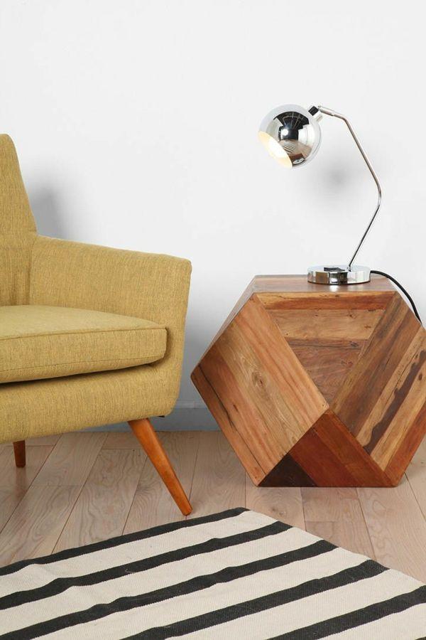 beistelltisch holzblock inspirierendes design wohnzimmer   möbel