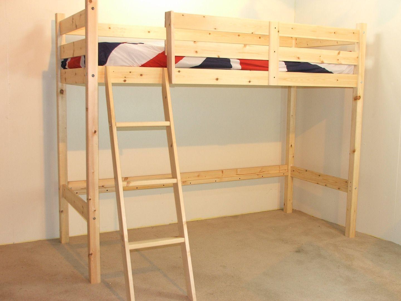 Best Oscar 3Ft Single Heavy Duty Solid Pine Loft Bunk Bed 400 x 300