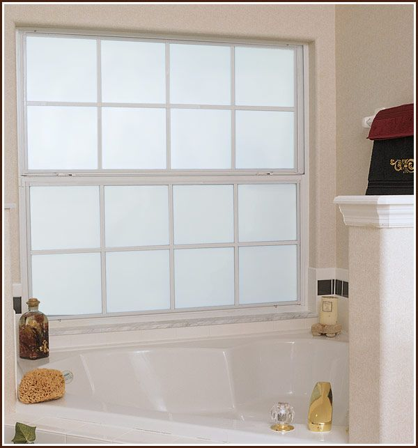 Bathroom Privacy Window frosted window film (static cling) | privacy window film, window