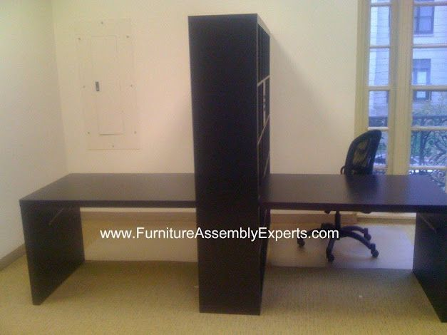 assembled office desks. Ikea Expedit Office Workstations Assembled In Fairfax Virginia DC By Furniture Assembly Experts Company Desks S