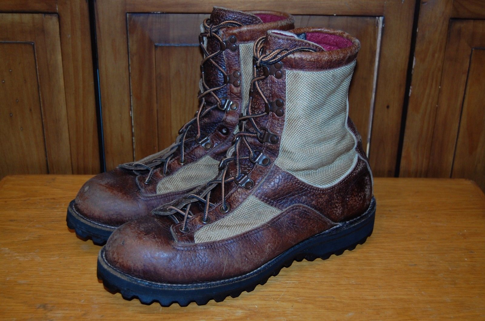 VINTAGE STYLE FIELD & FOREST BROWN HUNTING CORK SOLE BOOTS 12 EE MADE IN USA
