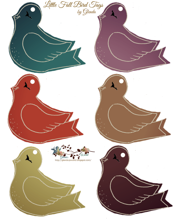 Fall Birdie Tags