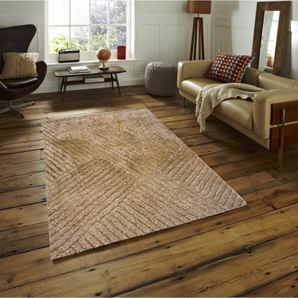 The Rug Hong Kong Orange Beige Hk 867 Great Design Here In On Trend And Tones This Stylish Zig Zag Pattern Makes For A