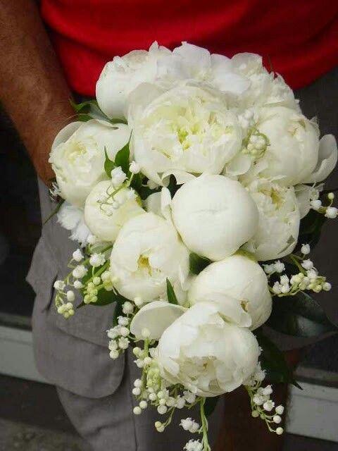 Peonies Bridal Bouquet. Wedding