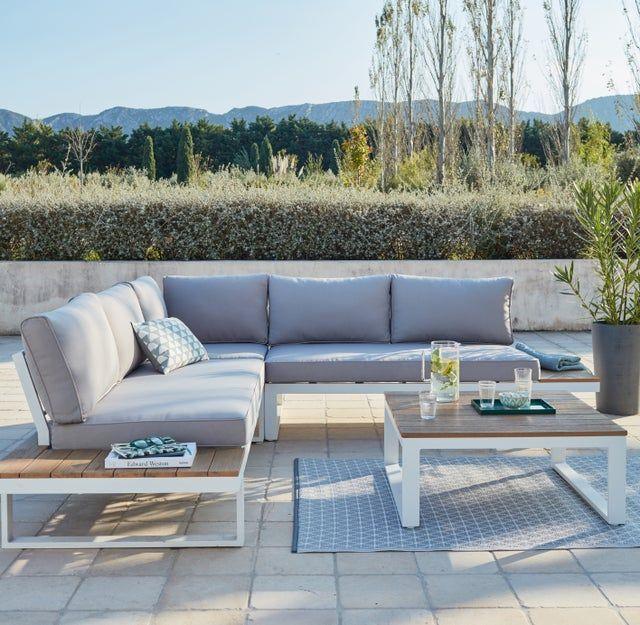 Salon Bas De Jardin San Diego Aluminium Blanc 5 Personnes Au Meilleur Prix En Stock Liv Salon De Jardin Aluminium Salon De Jardin Alu Salon De Jardin Gris