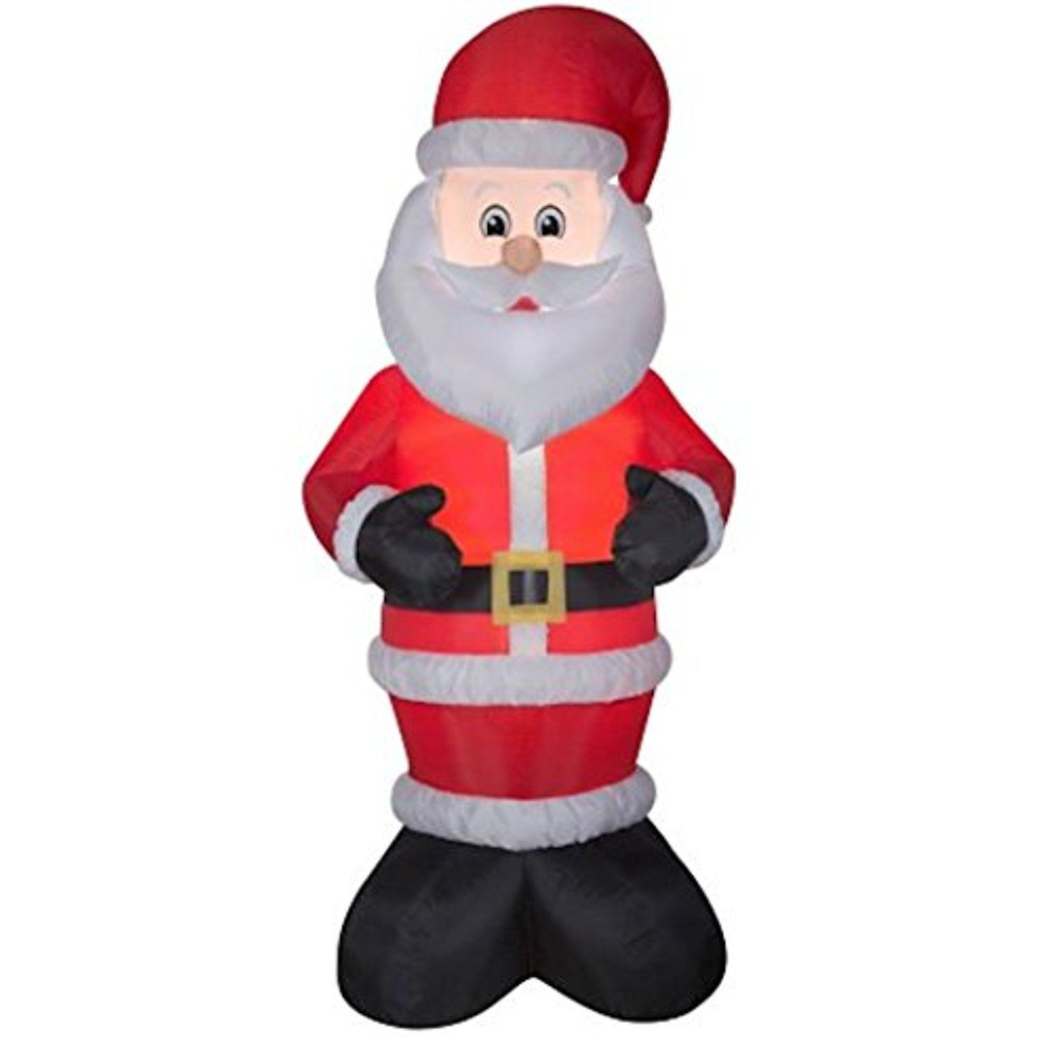 Santa Clause Inflatable, 10 Foot , Self Inflatable, lights Up ...