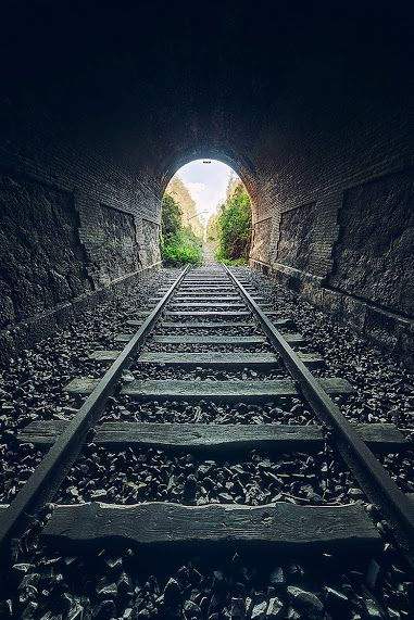 I D Really Like To Know Where This Tunnel Is Train Tracks Train Tunnel Tunnel Of Love