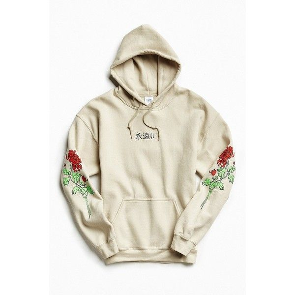 0394ae57e Floral Days Hoodie Sweatshirt ($54) ❤ liked on Polyvore featuring tops,  hoodies, white hooded sweatshirt, graphic hoodie, hooded pullover sweatshirt,  ...