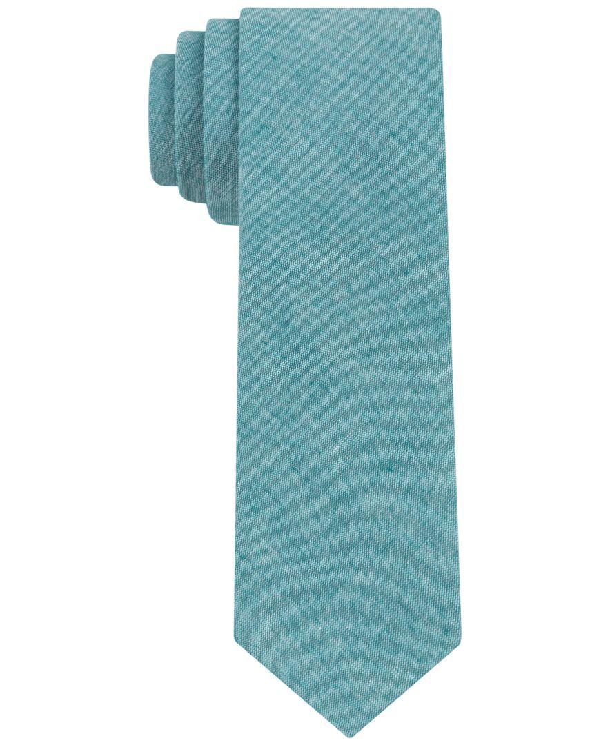 Calvin Klein Cotton Solid Skinny Tie