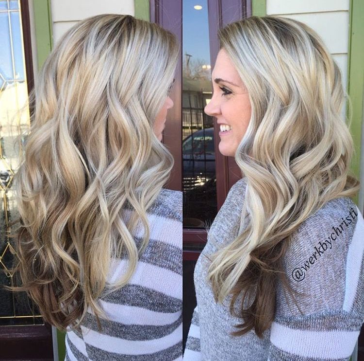25++ Dark brown hair with blonde on top ideas