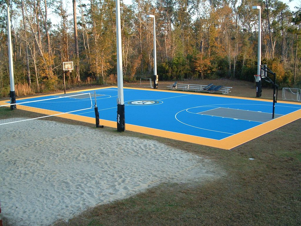 versacourt is perfect for new outdoor basketball courts or for