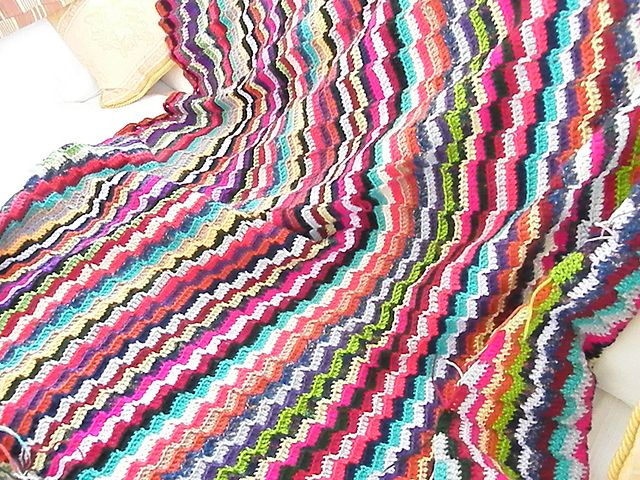 Ravelry: Project Gallery for Scrappy stripes Afghan pattern by Elizabeth Ham