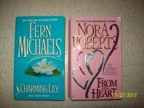 (2) ROMANCE NOVEL BOOKS ~ *NORA ROBERTS & *FERN MICHAELS....*FREE SHIP!!