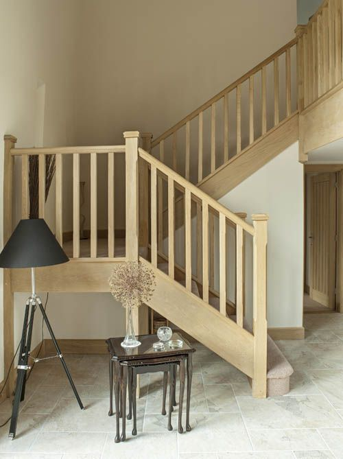 Small space staircase on pinterest staircases stairs for Quarter landing staircase